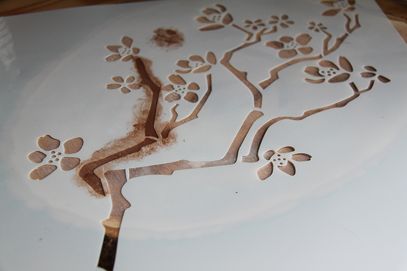 Cherry Blossoms in Bloom | Stencil1