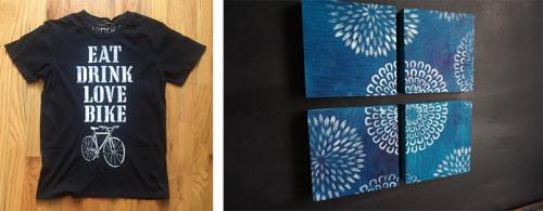 Bike Shirt and Blue Mum Panel