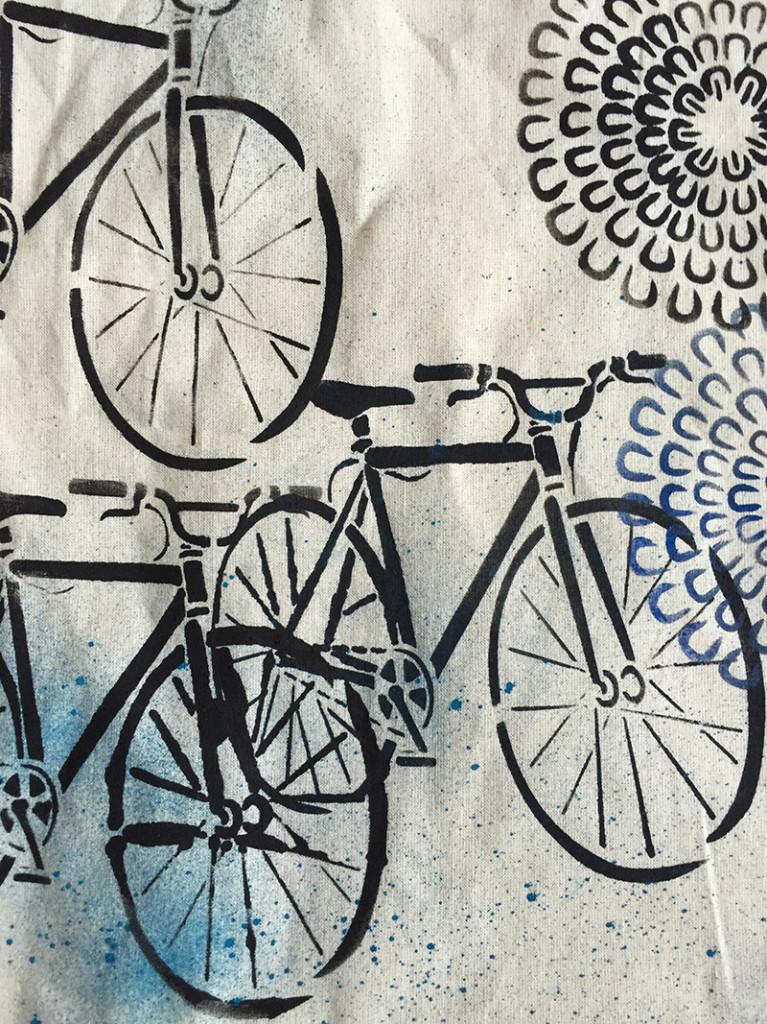 Summer bike tote