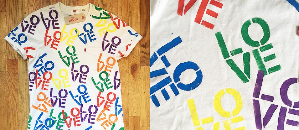 Levi's Stencil Love Pride