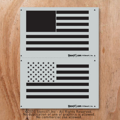American Flag 2 Layers Stencil1