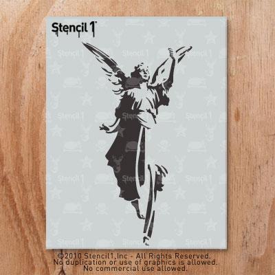 Angel Graffiti Stencil angel stencil (8.5″x11″) stencil1
