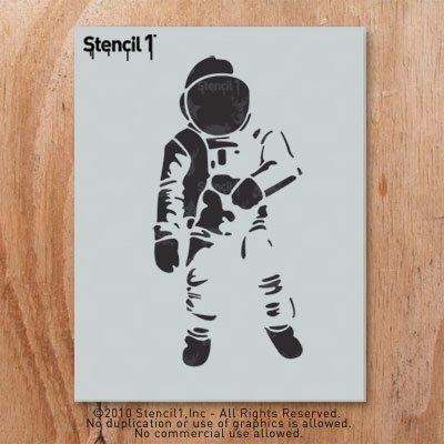 simple astronaut stencil - photo #4