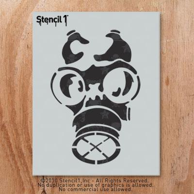 Graffiti Gas Mask Stencil   www.pixshark.com - Images ...