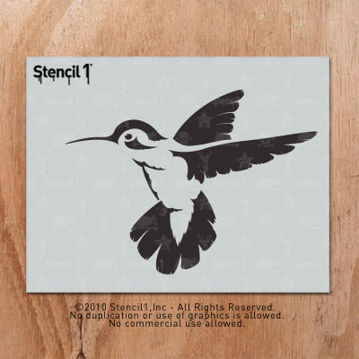 Hummingbird Stencil Helmet