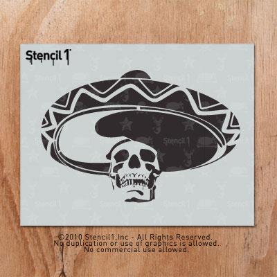 La Calavera Stencil (8.5″x11″) | Stencil1
