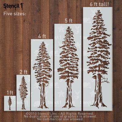 Redwood Trees Stencil Large Stencil1